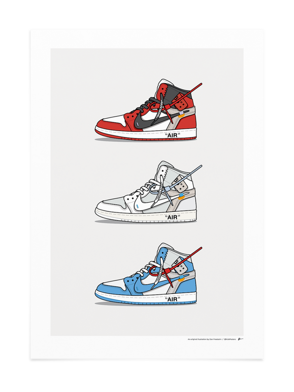 Triple Off-White Jordan 1 Print