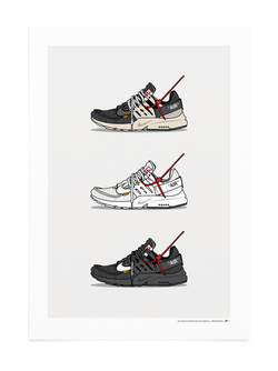 Triple Off-White Presto Print