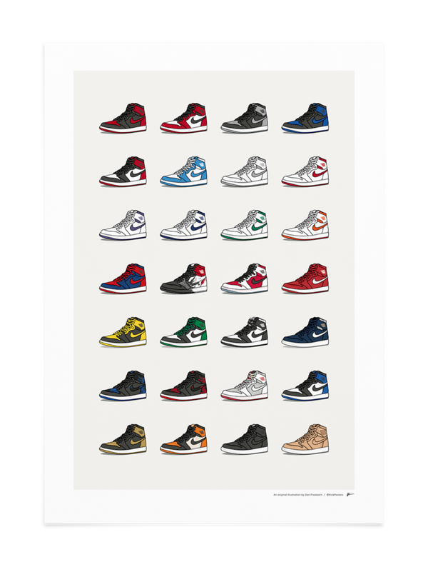Ultimate Jordan 1 Collection Print