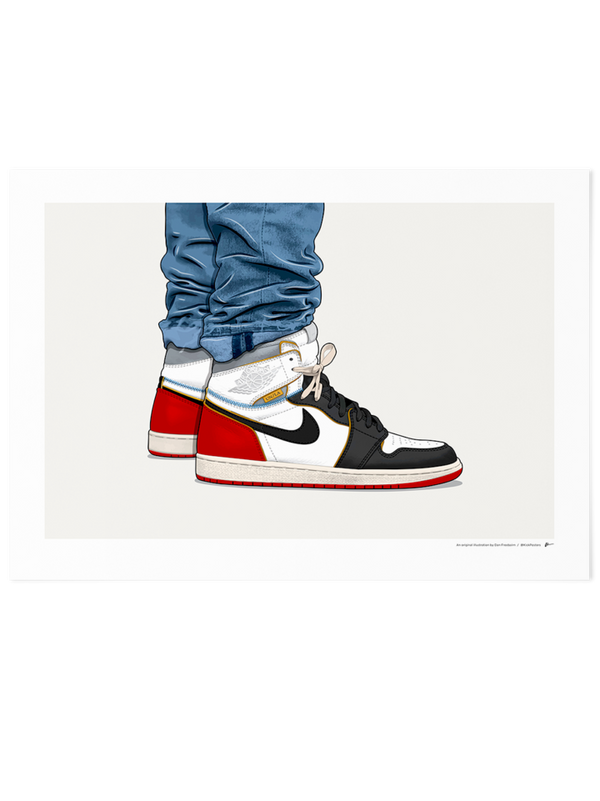 Union Jordan 1 On-Foot Limited Edition Print