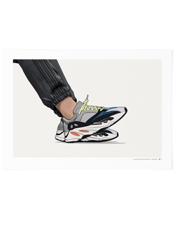 Yeezy 700 Wave Runner On-Foot Limited Edition Print