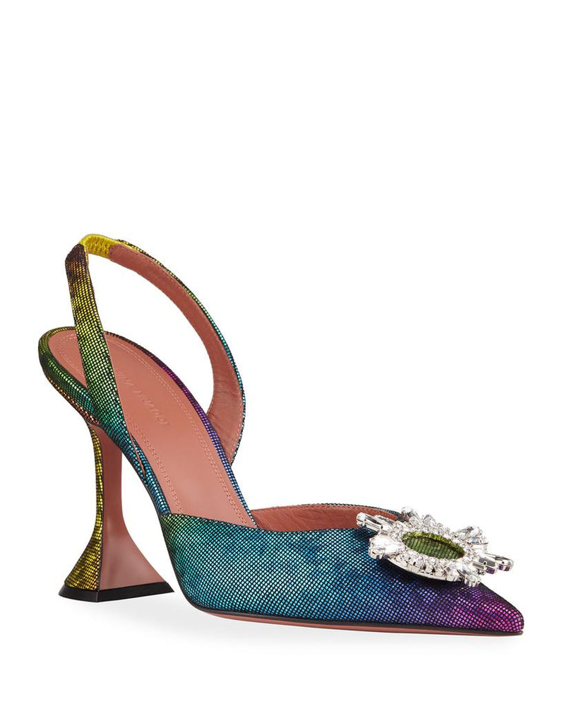 Amina Muaddi Begum Rainbow Pumps (New Season)