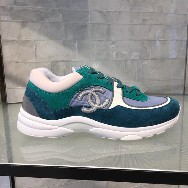 Chanel CC Logo Sneaker Teal Green (Reflective)