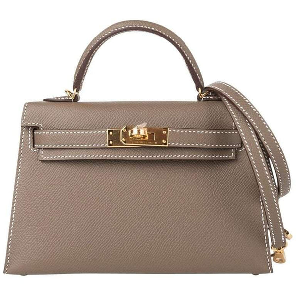 Mini Kelly II Etoupe Epsom Leather GHW