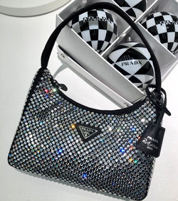 Prada Satin Bag With Crystals