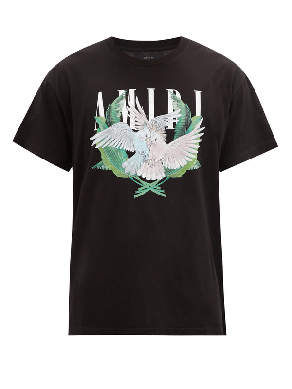 Amiri Love Birds Logo Print T Shirt