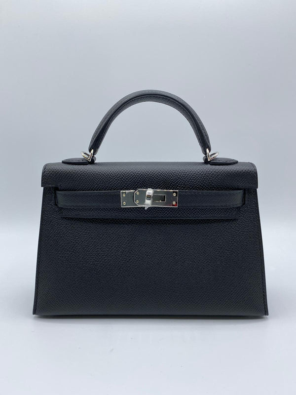 Hermès Kelly 20 Black Epsom PHW