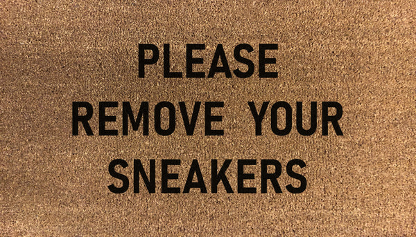 Please Remove Your Sneakers Doormat
