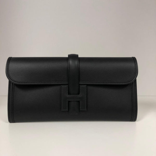 Hermès Jige Clutch Black Swift