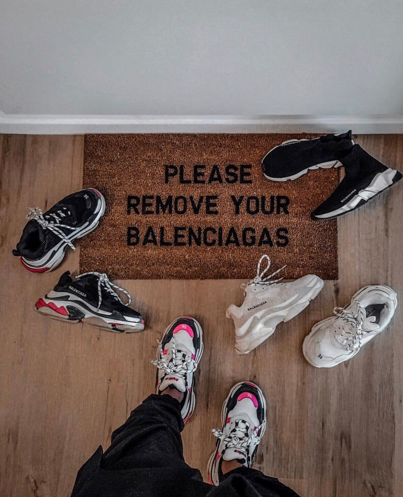 Please Remove Your Balenciagas Doormat