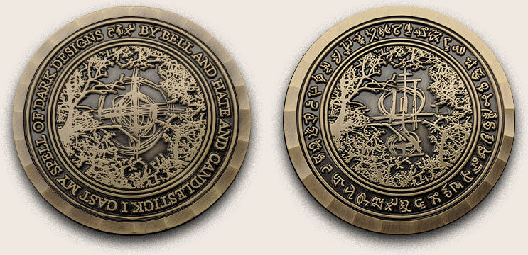 The Weeping Book Challenge Coin