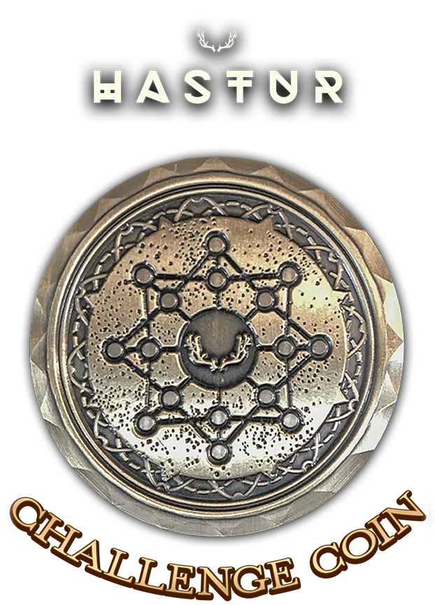 Challenge Coin - HASTUR - Mysterious Package Company