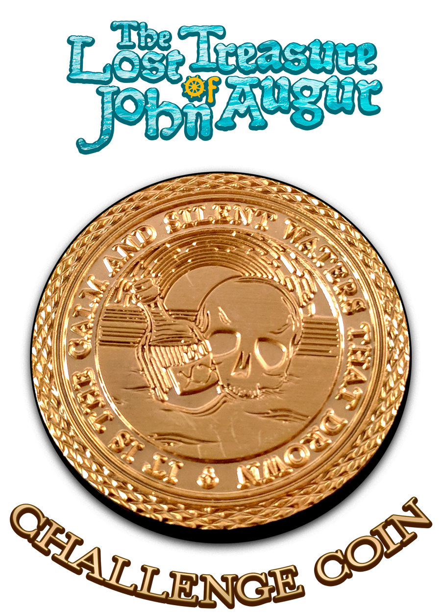 Challenge Coin - The Lost Treasure of John Augur