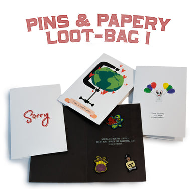 Pins & Papery Loot-bag I