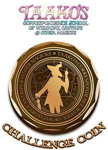 Challenge Coin - Taako's Correspondence School of Wizardry, Cantrips & Other Magicks