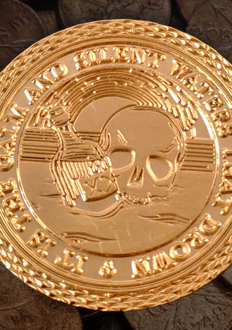 Challenge Coin - The Lost Treasure of John Augur - Mysterious Package Company