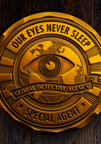 Challenge Coin - Post Mortem: LA - Mysterious Package Company