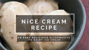NICE CREAM Recipe - An easy delicious alternative to dairy ice cream
