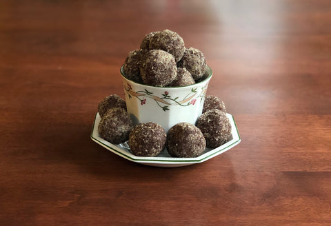 chocolate balls in tea cup