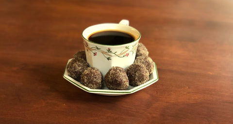 coffee with chocolate balls