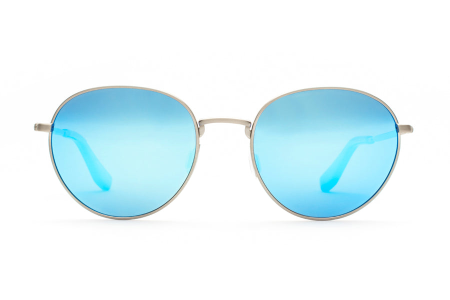 Adamant Metal Sunglasses Polarized Blu Mirror Lenses Three quarters