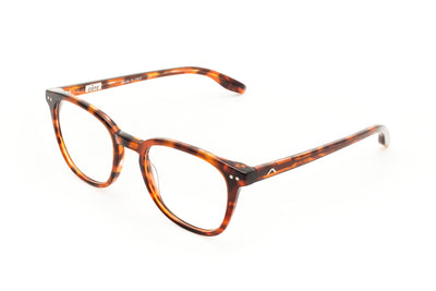 Aix Optical Eyeglasses Made in Italy Natural Acetate Brown
