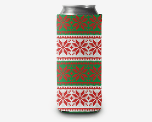 Ugly Sweater Christmas Can Cooler