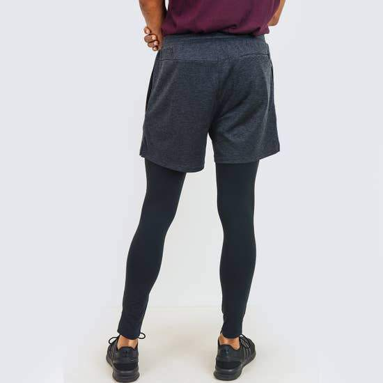 Mono B MEN - 2 in 1 Active Shorts with Fitted Leggings Combo