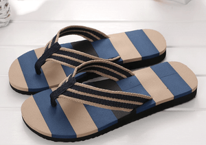 Stripped Flip Flops Men's