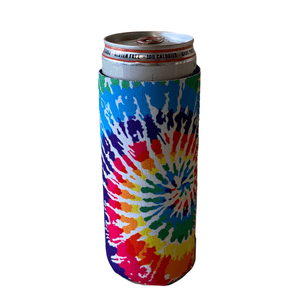 Tie Dye Slim Can Cooler