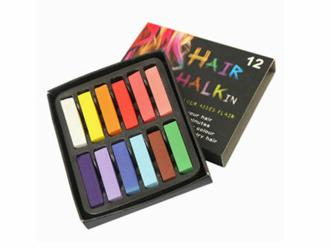 HAIR CHALK - COLOUR SOFT PASTELS SALON KIT 12