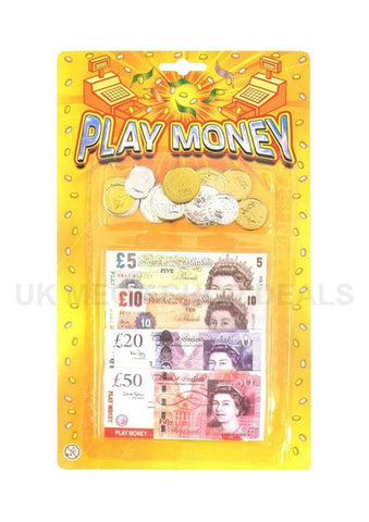 £ Play Fake Money - Notes, Coins For Role Play