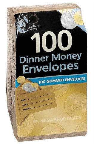 Small Brown Envelopes - Ideal for Dinner Money, Wages, Coin Beads & Seeds