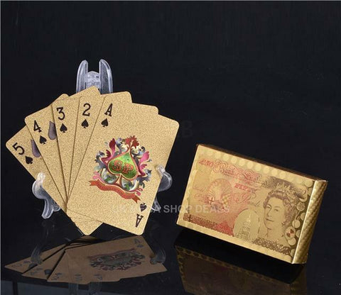 24K GOLD PLATED PLAYING CARDS - FULL POKER DECK