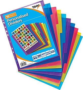 PP Dividers (Extra Wide Personalised Subject Dividers)