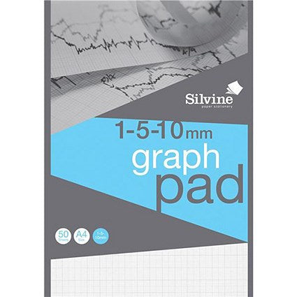A4 Professional Graph Pad Silvine (Pack of 10)