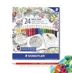 Staedtler 24 Noris CLUB - Assorted Coloured Pencils - Johanna Basford Edition