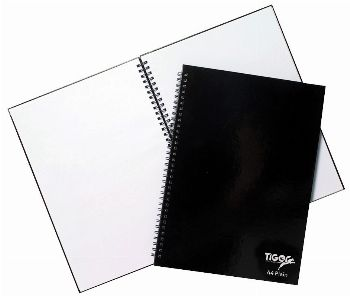 Notebooks - Plain Paper Twin Wire (Hard Cover)