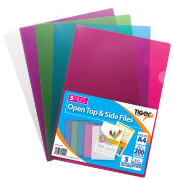 Open Top & Side Files - Assorted Colours (Glossy Finish)