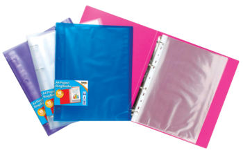 Large PP Project Ring Binder (A4 Clear View Colours)