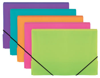 Elasticated A4 Box Files - Vivid Colours