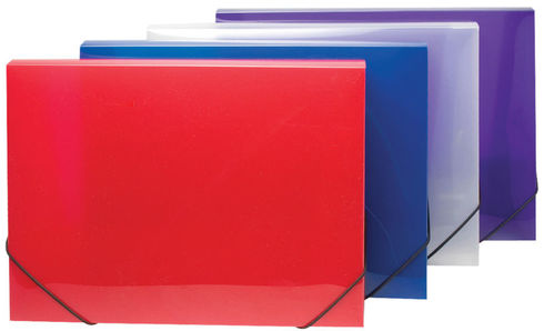 Elasticated A4 Box Files - Clear View Colours