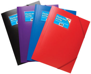 A4 Elasticated Files - Solid Colours