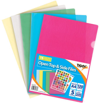 Open Top & Side Files - Assorted Colours