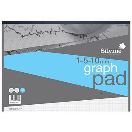 Silvine Professional Graph Pad / A3 / 90gsm / 30 Sheets