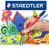 Staedtler 326WP20 Noris Club Fibre Tip Pen with Wallet Assorted Colours 20pk
