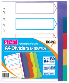 PP Dividers (Extra Wide Subject Dividers)