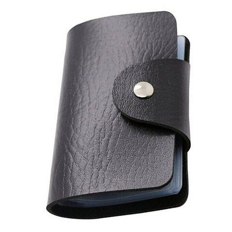 Business Card Wallet Holder 24 Slots (Mens Black, Brown)