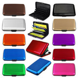 RFID Credit Card Scan Protected Aluminium Security Wallet Bank Holder - Hard Case