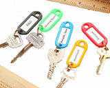 Plastic Key Ring Tags Mixed Colours